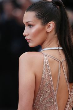 "ec33f05aa968 hadidfashion  "" Bella at the 69th Annual Cannes Film Festival May 11 Her  dress is. Bella Hadid StyleBella Hadid ..."