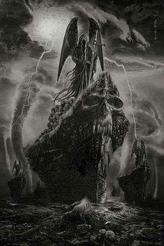thescariestdarkness:The Craziest Horror Video! All caught on Film Grim Reaper Art, Grim Reaper Tattoo, Don't Fear The Reaper, Demon Tattoo, Dark Fantasy Art, Arte Horror, Horror Art, Arte Dark Souls, Death Art