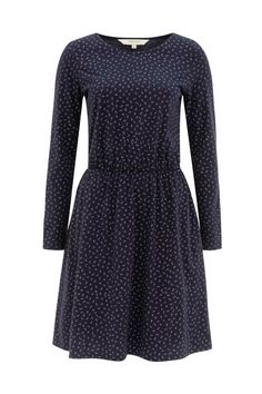 Printed long-sleeved dress with elasticated waist. Aleta is a fuss-free staple that you'll reach for again and again. Wear yours with trainers, or smarten it up with heels. Benthe is 5'9.5 and is wearing a size 10.