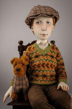 """Купить Авторская кукла """"Джим и Бим"""" - хаки, кукла, кукла ручной работы, купить куклу"""