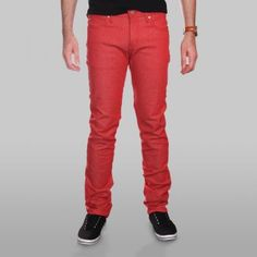Naked and Famous SkinnyGuy Red Stretch Jeans