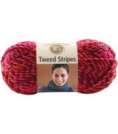 This seems to be a nice yarn for shawls or blankets >>> Lion Brand Tweed Stripes Yarn