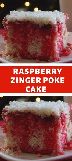 Chocolate Cake Mix Recipes, Poke Cake Recipes, Poke Cakes, Cupcake Cakes, Dessert Recipes, Cupcakes, Raspberry Zinger Cake, Raspberry Cheesecake Bars, Desserts To Make