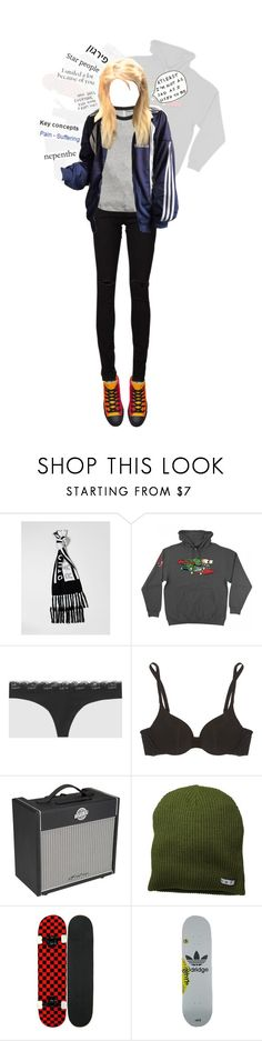 """""""we're starting over"""" by avintagemystery ❤ liked on Polyvore featuring Monki, Santa Cruz Skateboards, La Senza, Cosabella, Archer, adidas Originals and Yves Saint Laurent"""