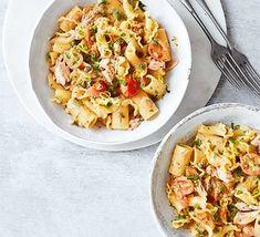 Lemony tuna, tomato Healthy Tuna Recipes, Canned Tuna Recipes, Bbc Good Food Recipes, Fish Recipes, Pasta Recipes, Dinner Recipes, Meal Recipes, Salmon Recipes, Dinner Ideas