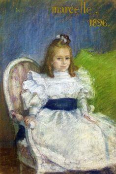 The Athenaeum - Portrait of Marcelle Mezieres, Nine Years Old (Henri Lebasque - ) 1896