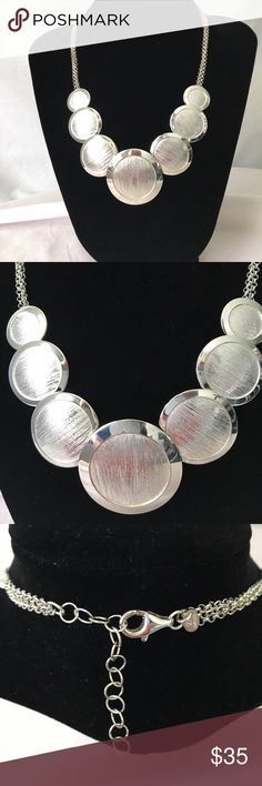 """💟Sterling Silver Disc Necklace💟 This necklace is really pretty..takes an average outfit to a 10!! Sterling silver..hangs 9"""" Jewelry Necklaces"""
