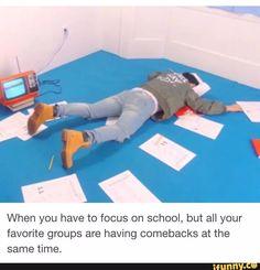 S.Coups represantando as/os fãs quando elas/eles têm que estudar mas sai vídeo daquele grupo...(tipo BTS, Seventeen, EXO, AOA...vocês sabem do que estou falando)