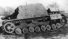 "A abandoned Sturmpanzer IV (Sd.Kfz.166) ""Brummbär"""