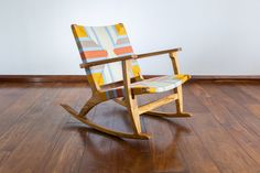 Our Pearl Lagoon pattern brings a sense of joy into any space. 🌻 Home Interior, Rocking Chair, Home Design, Teak, Mid-century Modern, Hand Weaving, Hardwood, Diys, Mid Century