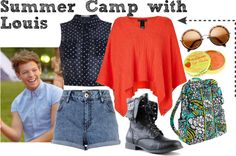 """""""Summer Camp with Louis"""" by phenomeniall-style ❤ liked on Polyvore"""