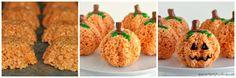 Halloween Pumpkin Rice Krispies . DIY . How to . Food