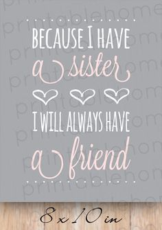 Sisters Quote INSTANT download Nursery sisters by PrintableHome