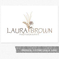 Photography Logo and Watermark, Premade Customizable Logo Design