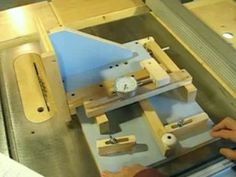Quick-set tenon jig - YouTube