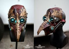 Steampunk Fashion Costumes And Accessories Arcane Steampunk/victorian LED plague doctor mask by TwoHornsUnited on DeviantArt Steampunk Cosplay, Steampunk Mask, Steampunk Diy, Steampunk Kunst, Style Steampunk, Steampunk Fashion, Plague Mask, Plague Doctor Mask, Steampunk Gadgets