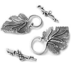 Wholesale 60 sets Tibetan Silver Charms Twist Toggle Clasp