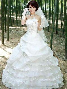 Amazon.co.jp: コンビレースティアードウエディングドレス: 服&ファッション小物
