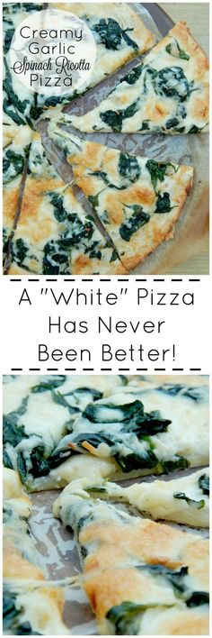 Creamy Garlic Spinach Ricotta Pizza