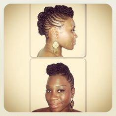 NaturaL Hair Updo by Natural Gloe salon, Shepherds Bush on www.noscrunchie.com