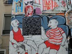 Artiste : hoppn yuri - Street art dans la rue Desnoyer à Paris