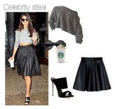 """Celebrity steal"" by shaziwazi on Polyvore featuring MSGM, Giuseppe Zanotti, Yves Saint Laurent, stylesteal and CelebrityStyle"