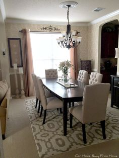 I hope your week is going well. Around here life has been a bit busy, but even then I have been making some small upda. Modern Dining Room Tables, Dining Room Design, Hamptons Living Room, Pretty Room, Love Your Home, Home Upgrades, Home Interior Design, Candle Holders, Sweet Home