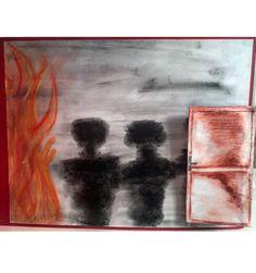 Ontsnappen van het brand gevaar.. Van, Painting, Painting Art, Paintings, Vans, Painted Canvas, Drawings, Vans Outfit