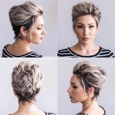 Today we have the most stylish 86 Cute Short Pixie Haircuts. We claim that you have never seen such elegant and eye-catching short hairstyles before. Pixie haircut, of course, offers a lot of options for the hair of the ladies'… Continue Reading → Brown Hair Short Bob, Short Bob Updo, Hairdos For Short Hair, Haircut For Thick Hair, Short Pixie Haircuts, Short Bob Hairstyles, Short Hair Cuts, Curly Hair Styles, Upstyle Short Hair