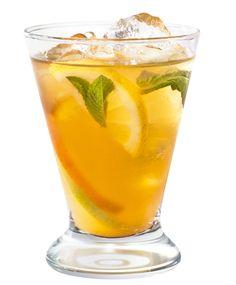 Greek Sangria - White wine, Cointreau, Metaxa Brandy, Apricot netctar, simple syrup, sliced lime, orange, fresh mint, cucumber & soda water.