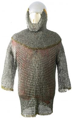 European (Germany) riveted mail shirt, 14th century, belonging by tradition to Rudolph IV of Hapsburg, Duke of Austria, Carinthia and Ferrette (1339-1365), made with a rare combination of alternating solid and wedge riveted links.