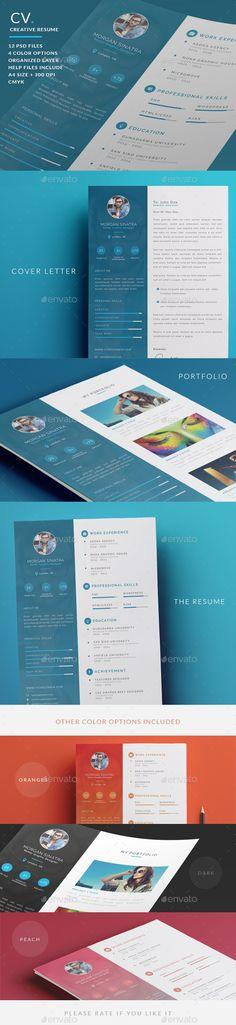 Creative Resume - CV - #Resumes Stationery Download here: https://graphicriver.net/item/creative-resume-cv/10356860?ref=artgallery8