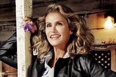 Lauren Hutton is having a moment. The 69-year-old model has landed a new ad campaign for Lucky Brand, posing solo in one photo and with seven other models in another wearing this fall's hottest denim.