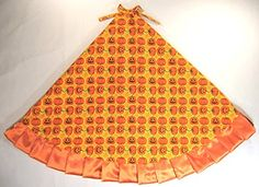 Halloween Tree Skirt 47 Pumpkins  Jackolanterns in Rows *** Visit the image link more details.