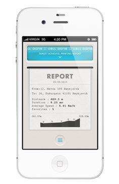 Location Finder iphone App by Yasser Achachi , via Behance