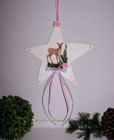 Stern zum Hängen - Adventsdeko http://www.claudias-geschenkparadies.de/Stern-mit-Reh