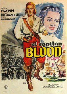 Captain Blood Errol Flynn and Olivia de Havilland Errol Flynn, Olivia De Havilland, Movie Props, Film Movie, Old Movies, Vintage Movies, Francisco Fernandez, Captain Blood, Theater