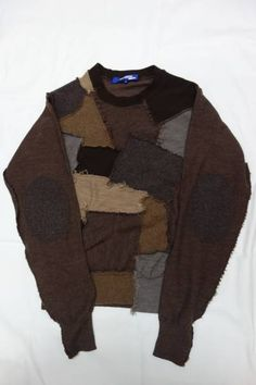 ferretfatale: Junya Watanabe Patch Sweater 2003 Look Fashion, Mens Fashion, Fashion Design, Mode Outfits, Fashion Outfits, Estilo Indie, Looks Cool, Swagg, Aesthetic Clothes