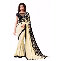 LEMON YELLOW FLOWER BOLLYWOOD SAREE_00