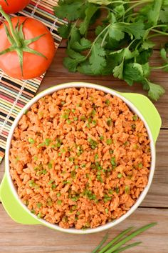 This Easy Spanish Rice is quick to toss together and it's seasoned with spices- so there's no chopping! Recipe includes Instant-Pot directions as well as stove top! So enjoy some 'restaurant-style' rice tonight!