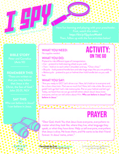 Use this guide to follow up today's video. New Testament Bible, Bible Stories, Fun Learning, Fun Activities, Kindergarten, Have Fun, Preschool, Encouragement, Sunday