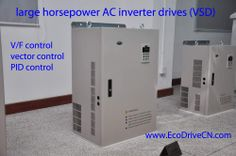 large horsepower variable speed drives (frequency inverters): V/Hz control, vector control, built-in PID controller