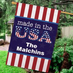 "Personalized Made In The USA 29"" x 43"" House Flag"