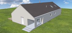 Projekt domu Ekonomiczny 1B 92,6 m2 - koszt budowy - EXTRADOM Shed, Outdoor Structures, Lean To Shed, Coops, Sheds, Tool Storage