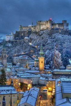 Winter in old city of Salzburg, Austria (by Ilja Osthoff) Visit Austria, Austria Travel, Places Around The World, Travel Around The World, Places To Travel, Places To See, Beauty Dish, Bósnia E Herzegovina, Saint Ouen