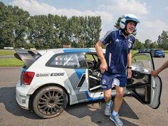 Die Bundesliga und ihre Autos 2012/2013: Schalke-Keeper Lars Unnerstall und der VW Polo R WRC #vw #wrc #rallye #s04