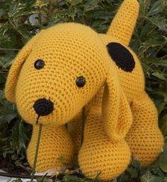 Haakpatroon hond geel