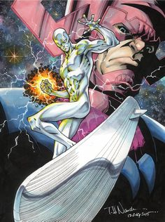 Silver Surfer and Galactus - Todd Nauck