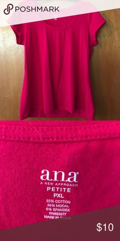Cute pink casual top Petite XL Ana brand top Tops