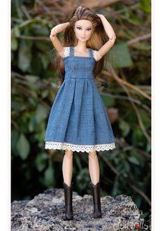 35.16.3/jswdolls Sewing Barbie Clothes, Barbie Sewing Patterns, Crochet Doll Clothes, Doll Clothes Patterns, Moda Barbie, Barbie Et Ken, Pictures Of Barbie Dolls, Barbie Fashionista Dolls, Barbie Dress